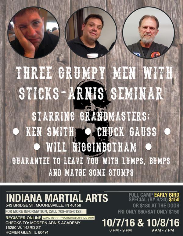 Three Grump Men with Sticks Arnis Seminar @ Indiana Martial Arts | Mooresville | Indiana | United States