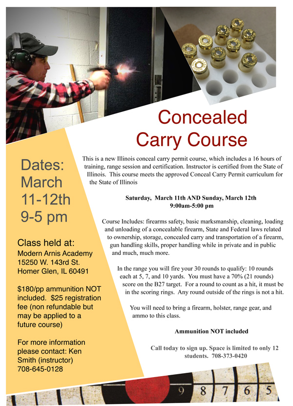 Concealed Carry Flyer