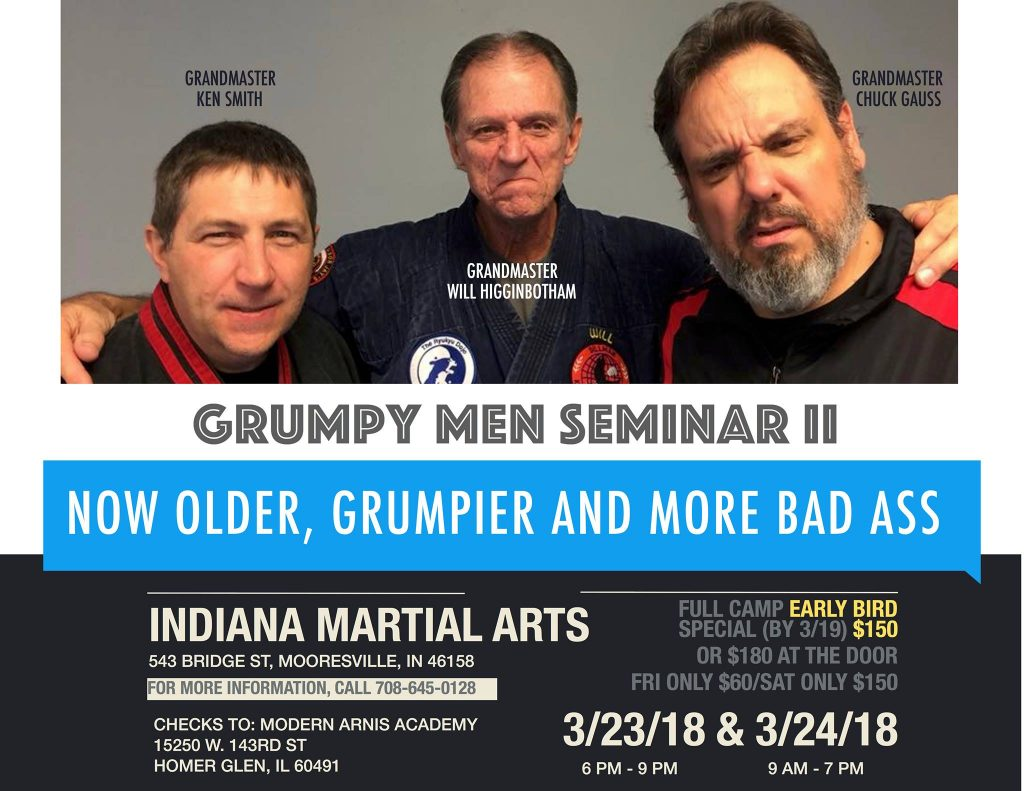 Grump Men Seminar II @ Indiana Martial Arts | Mooresville | Indiana | United States