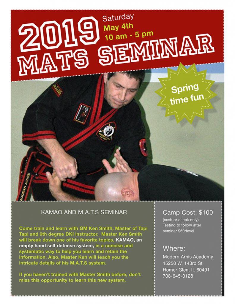 KAMAO AND M.A.T.S SEMINAR @ Modern Arnis Academy