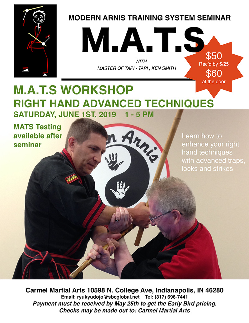 M.A.T.S WORKSHOP RIGHT HAND ADVANCED TECHNIQUES @ Carmel Martial Arts